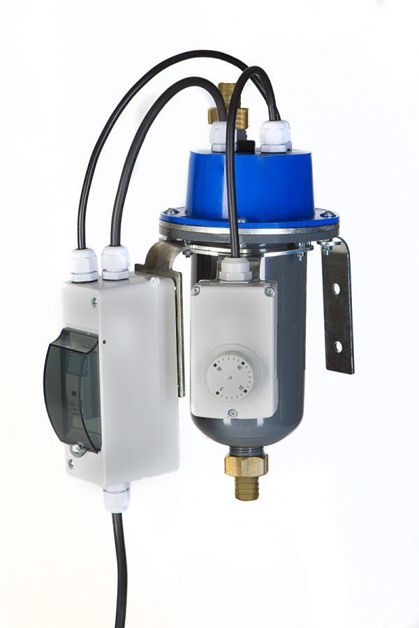 grawitacyjny podgrzewacz silnika z termostatem regulowanym